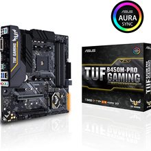 Led-Lighting Gaming B450m-Pro Am4 Ddr4 Asus Tuf Amd Ryzen Micro-Atx HDMI Dual-M.2 Sync