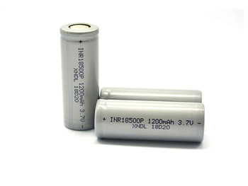 high  quality  3.7v  18500  1200mah  li-ion  lithium  rechargeable  battery