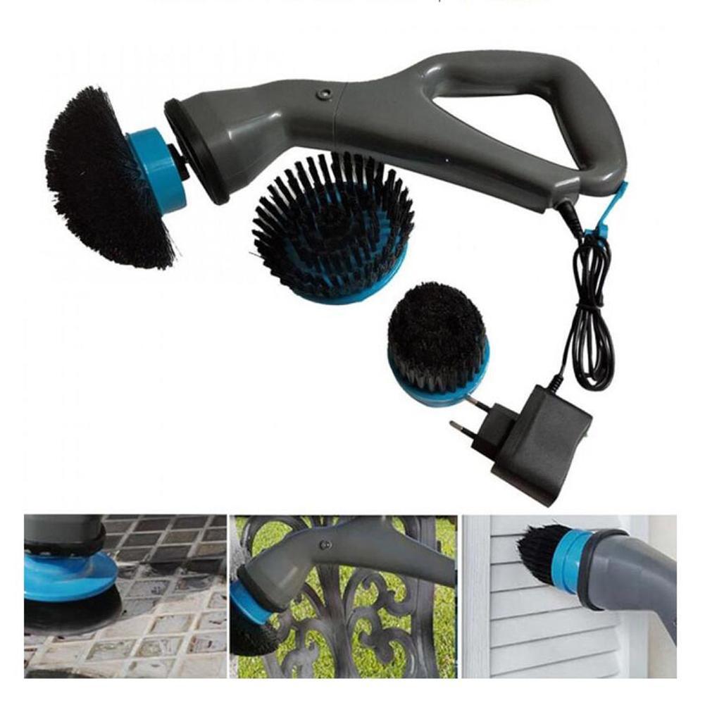 4 в 1 многофункциональная functionNew электрическая Чистящая Щетка Кухня щетка Электрический скрабер домашний очиститель Чистящая щетка насадки