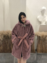 Plus size 2019 winter new real fur coat women Nobel long bat sleeve imported velvet mother whole mink YL045