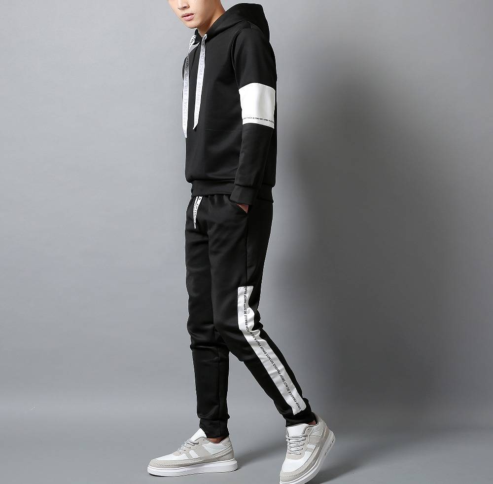 Casual Tracksuit Set Men Fashion 2020 Jogger Sports Sportswear Suits Spring Autumn Two Pieces Hoodies Pants Set Male Sweat Sui
