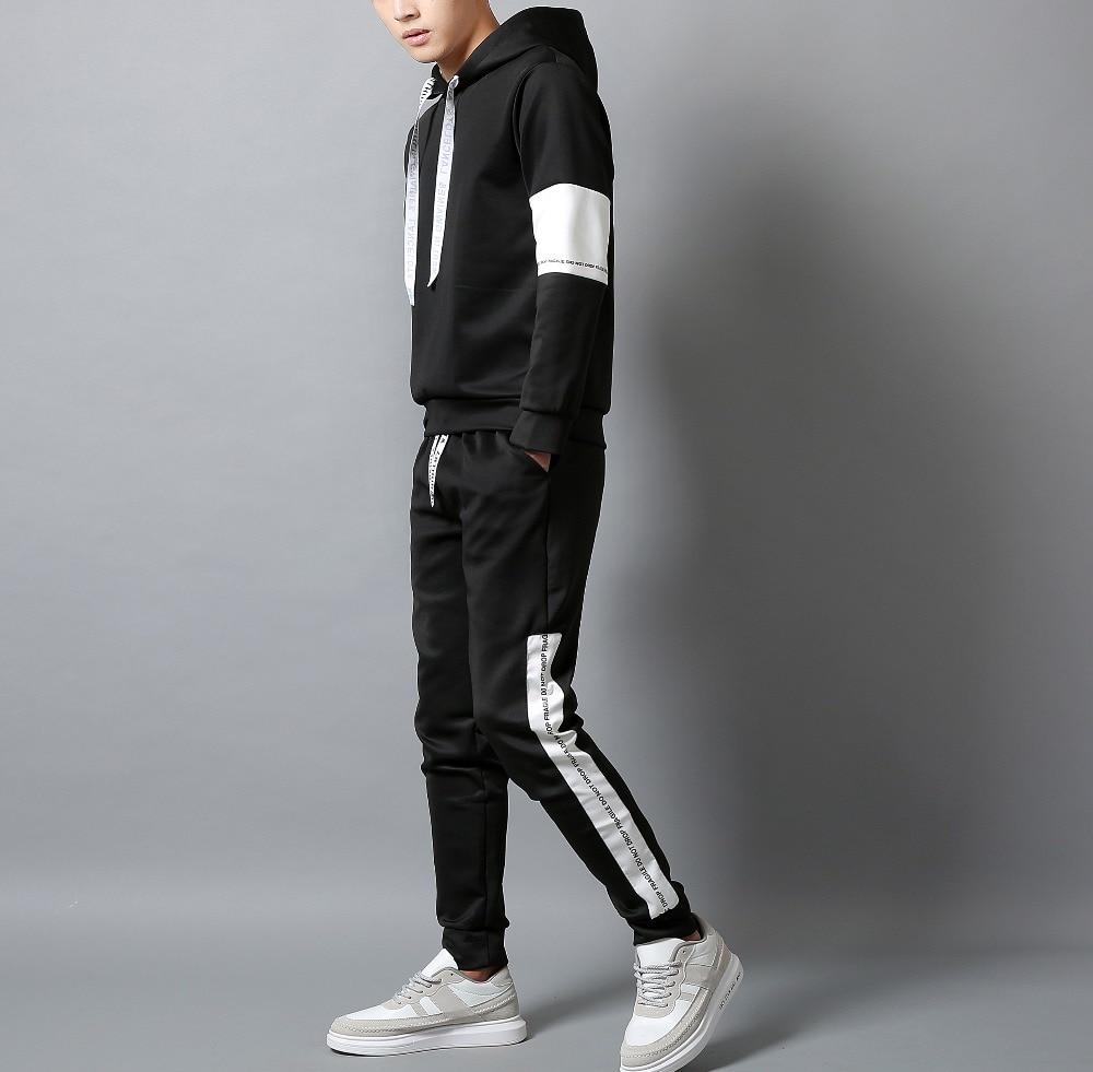 Casual Tracksuit Set Men Fashion 2020 Jogger Sports Sportswear Suits Spring Autumn Two Pieces Hoodies Pants Set Male Sweat Sui
