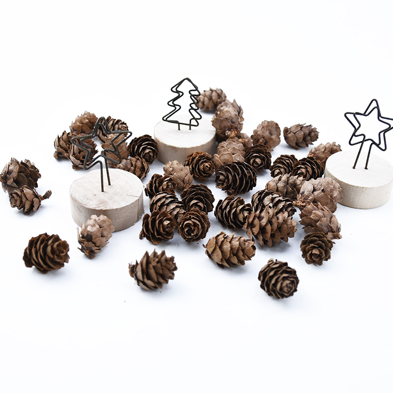 20 Pieces Artificial Plants Cheap Natural Dried Flowers Pine Cone Acorn Wedding Home Decoration DIY Christmas Garland Wreath