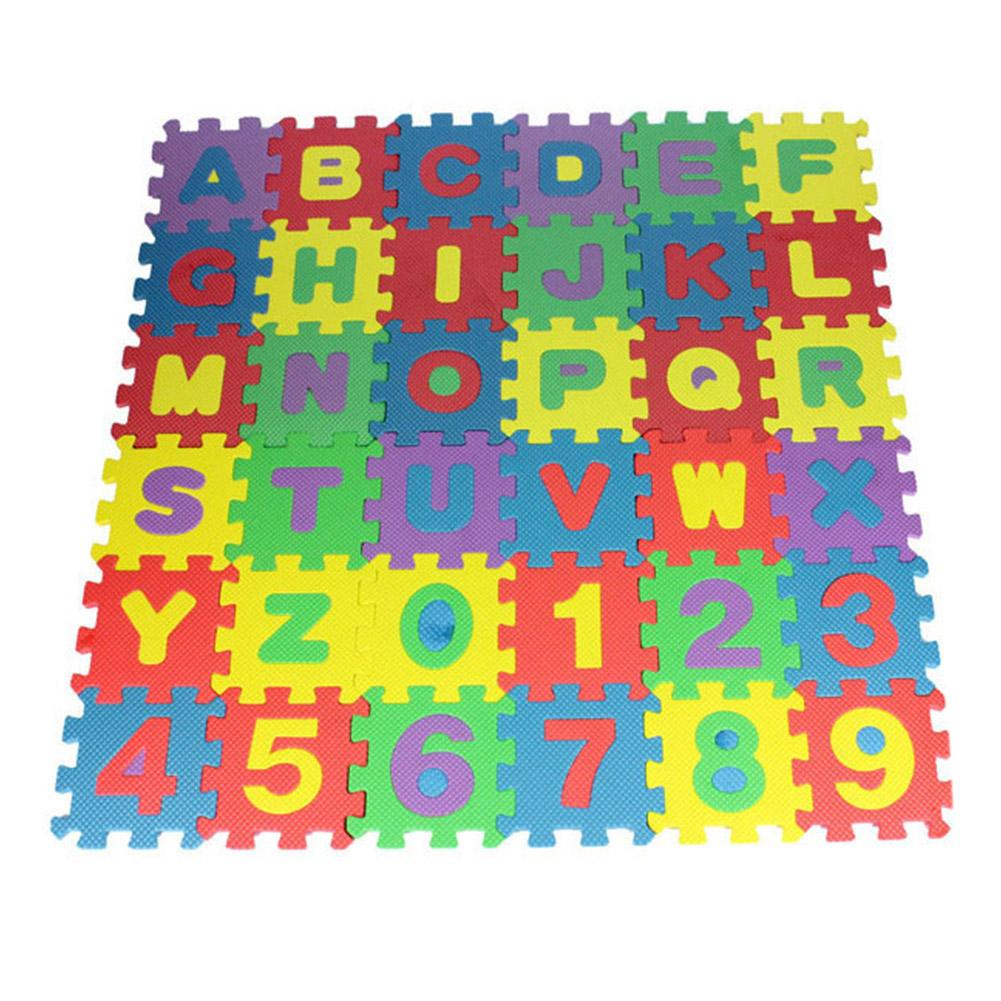 36Pcs Children Letter Numbers Puzzle Crawling Foam Floor Mat Rug Education Toy Gift For Children,kids Indoor Soft Activity Mat