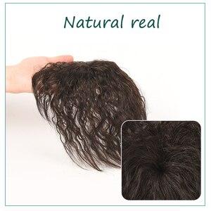 Женский парик из натуральных волос AILIADE, дышащий парик из натуральных волос, увеличивающий количество волос на верхней части головы