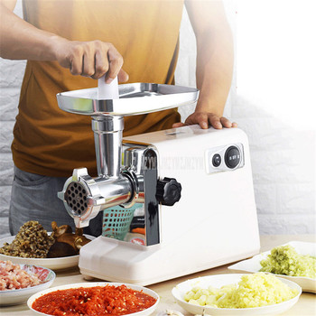 Mini Household Meat Mincer Machine Sausage Filler Maker Stainless Steel Electric Automatic Vegetable Meat Grinder Mince Machine