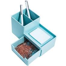 Настольная искусственная с выдвижным ящиком органайзер для хранения