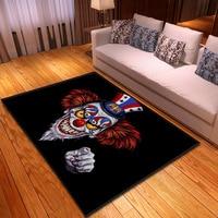 Nordic 3D Print Skull Carpet for Living Room Bedroom Polyester Anti slip Large Floormat Modern Are Rug Blanket tapete Home Decor