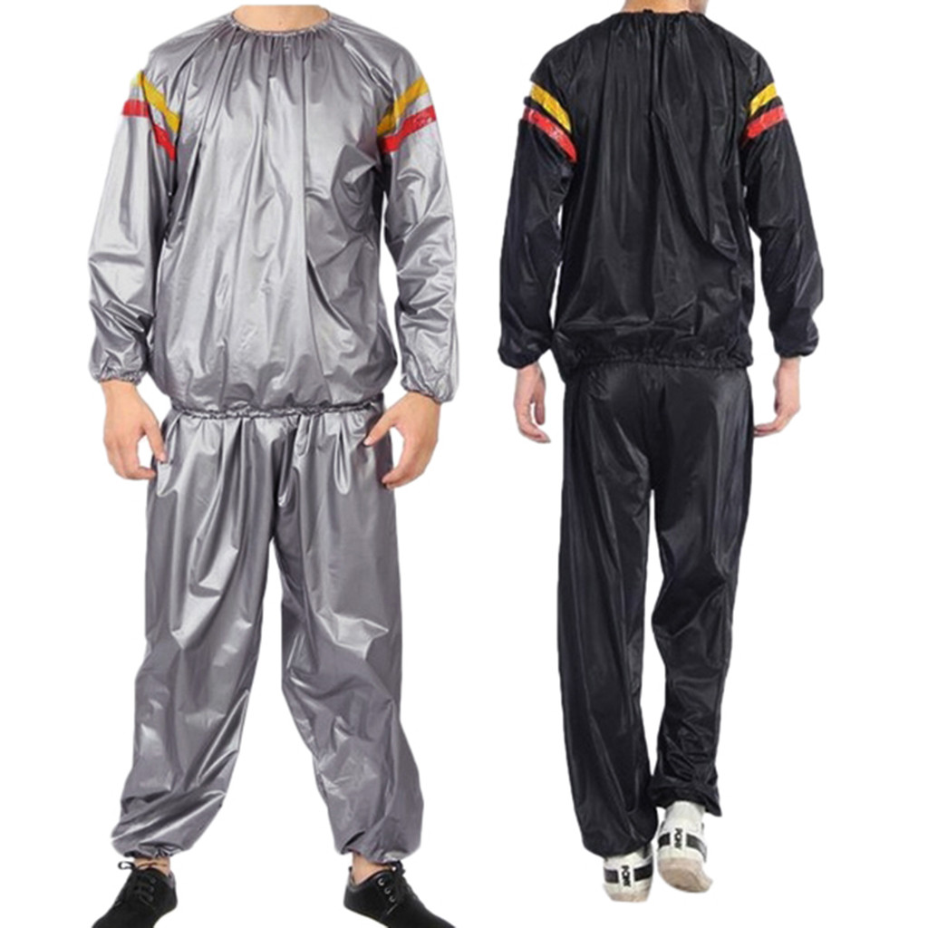 Sauna Suit Pvc Fitness Clothes Sports Red And Yellow Sweating Sauna Clothes Slimming Suit Lose Weight Gym Clothes  *