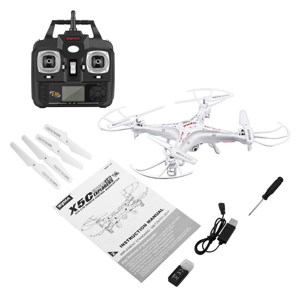 Version de mise à niveau SYMA X5C Drone télécommandé 6 axes hélicoptère résistance au vent quadrirotor sans pilote avec Drone caméra 2MP HD