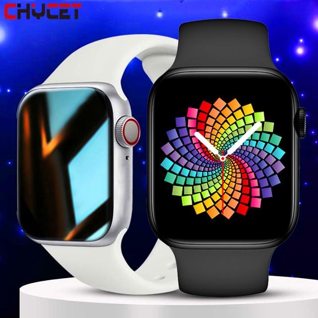 2021 IWO Smart Watch Men Women Series 6 Heart Rate Monitor Sport Smartwatch 44mm Fitness Bracelet Clock For Iphone Xiaomi Huawei 1