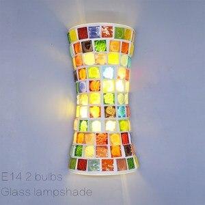 Artpad conduziu a iluminação de parede dentro bohemia arandelas lâmpadas retro  lâmpada parede vidro do vintage com sombra para o quarto sala estar corredor|Luminárias de parede| |  -