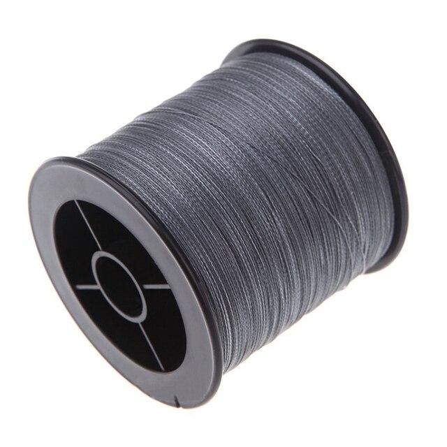 500 M 30 LB 0.26mm żyłka wytrzymałość PE pleciony 4 nici szary