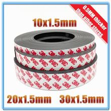 1Meter/lot Rubber Magnet 10*1 20*1 30*1 mm self Adhesive Flexible Magnetic Strip Rubber Magnet Tape width 10mm/20mm/30mm free shipping 1meters self adhesive flexible magnetic strip 1m rubber magnet tape width 100mm thickness 1mm