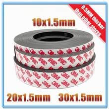 1 metro/lote ímã de borracha, 10*1 20*1 30*1mm, ímã autoadesivo, borracha magnética, flexível fita magnética de largura, 10mm/20mm/30mm