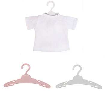 5pcs/Lot Doll Hanger Plastic Hangers for 43cm American Doll Baby Toys Fit 18 inch Girls Doll Accessories