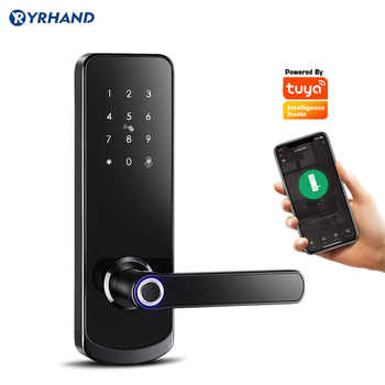 Fingerprit Electronic Door Lock with APP WIFI Smart Touch Screen Lock Digital Safe Code Keypad Deadbolt For Home Hotel Apartment - DISCOUNT ITEM  45 OFF Security & Protection
