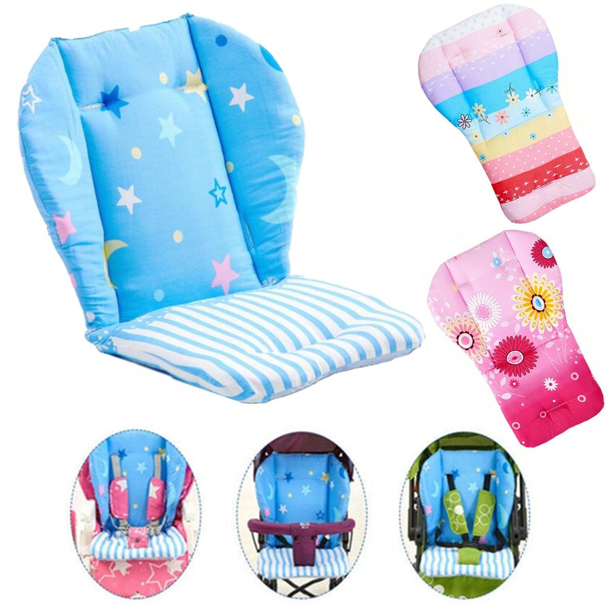 Baby High Chair Cushion Cover Kids Children  Booster Mats Pads Feeding Chair Cushion Stroller Seat Cushion Pure Cotton Fabrics