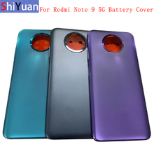 Original Battery Cover Rear Door Housing Back Case For Xiaomi Redmi Note 9 5G Battery Cover Camera Frame Lens with Logo