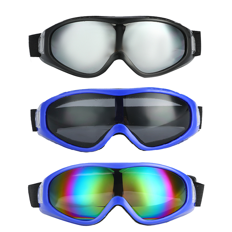 1 Pcs Ski Goggles Eyewear PC Lens Anti-UV Windproof Anti-fog Sand Protective Winter Outdoor Eyewear For Men And Women