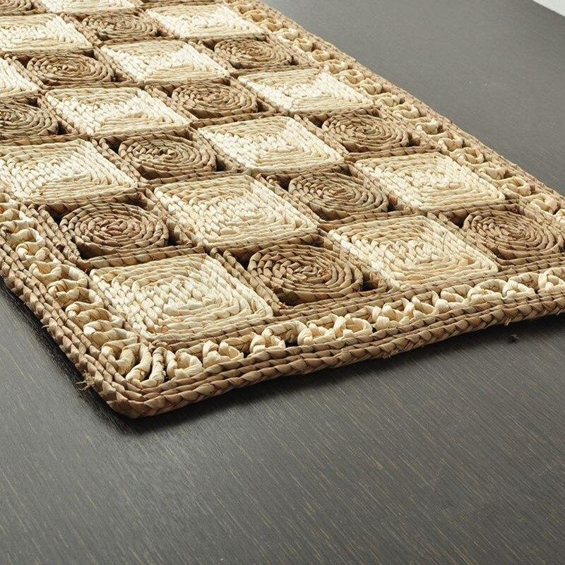 Handmade Stitch Straw Floor Mat Door Mats Indoor Braided Floor