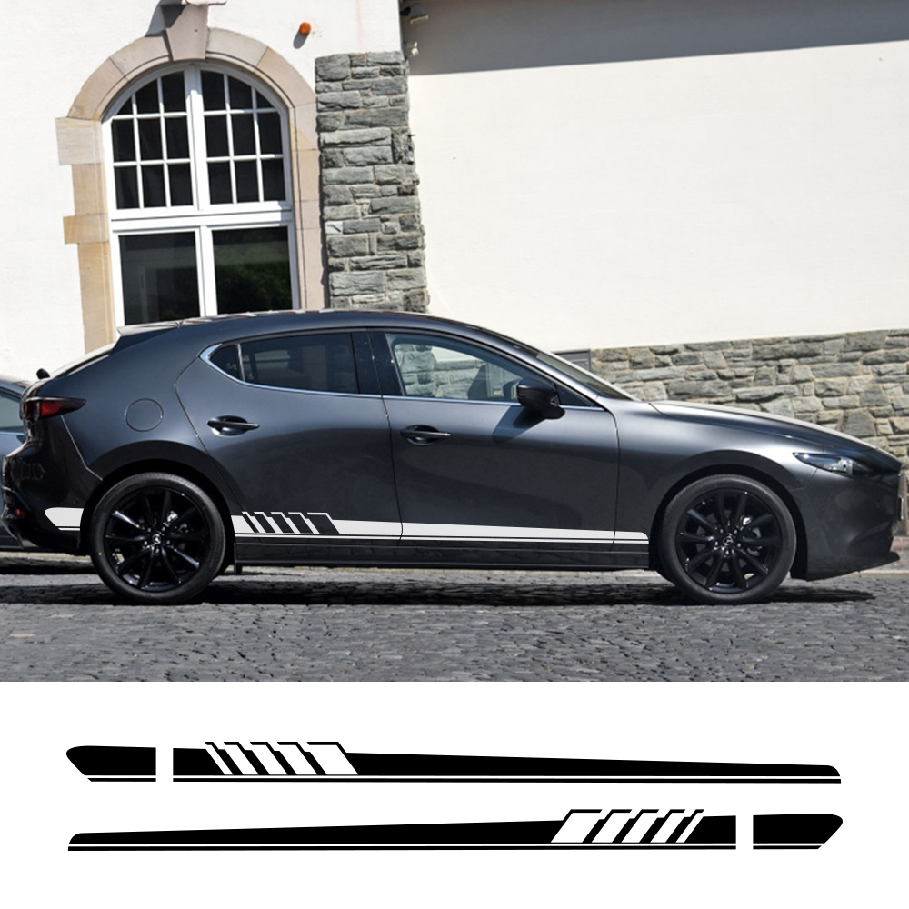 For Mazda Axela Atenza MS MPS Demio CX-5 CX5 CX-3 CX3 2Pcs Car Side Sticker Auto Vinyl Film Decal Styling Car Tuning Accessories