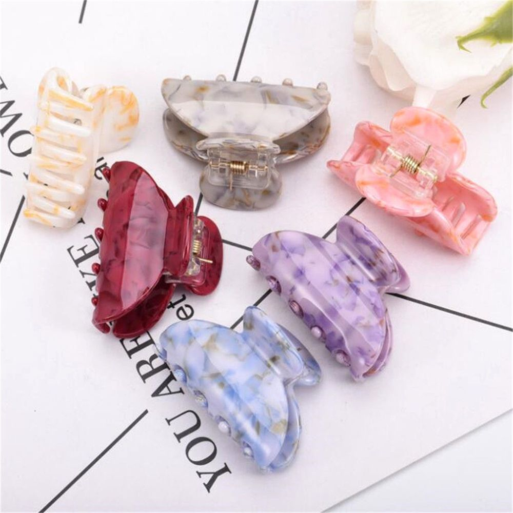 1Pcs Women High Quality Acrylic Hair Claw Clips Barrette Acrylic Hair Crab Clamp Lady Girls Hair Accessories
