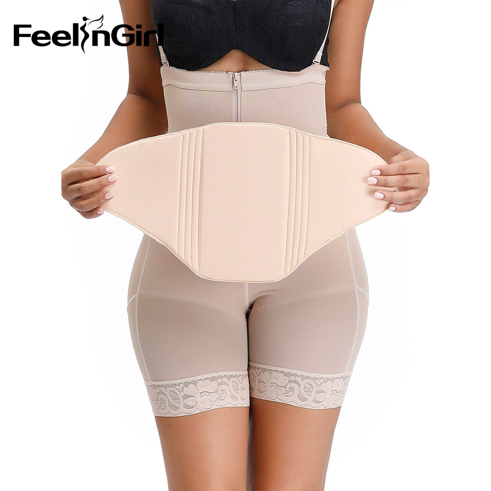 FeelinGirl Postoperative And Postpartum Recovery Compression Abdominal Board Flattening Faja Ab Board Beige After Liposuction