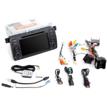 Auto Radio 1 Din Android 9.0 Car DVD Player for BMW E46 M3 318/320/325/330/335 RoVER 75 1998-2006 GPS Navigation BT Wifi(2+16G)(China)