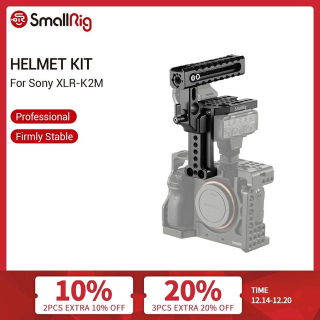 SmallRig Dslr Camera Top Handle Helmet Handle Kit for Sony A7RIII A7II A7 A9 Camera Cage Quick Release Top Handle Grip   2080