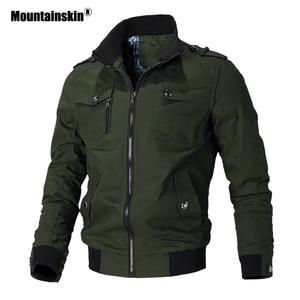 Image 2 - 마운틴 스키 캐주얼 자켓 남성 봄 가을 군대 밀리터리 자켓 남성 코트 남성용 아웃웨어 윈드 브레이커 브랜드 의류 SA779