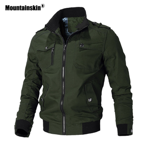 Image 2 - Mountainskin Casual Jacket Men Spring Autumn Army Military Jackets Mens Coats Male Outerwear Windbreaker Brand Clothing SA779