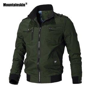 Image 2 - Mountainskin jaqueta casual masculina, primavera outono, exército, militar, casacos para uso externo, roupas de marca, sa779