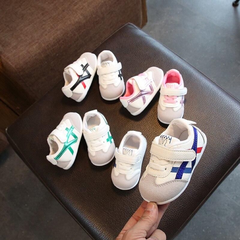 0 à 18 mois bébé garçons et filles chaussures enfant en bas âge chaussures de sport nouveau-né fond souple première marche chaussures de mode antidérapantes