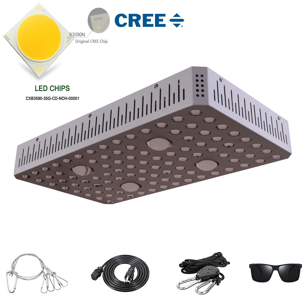 Cree CXB3590 COB LED Grow Light Double Switch1000W 2000W 3000W Full Spectrum Plant Light Growing Lamp For Medicinal Plants Tent