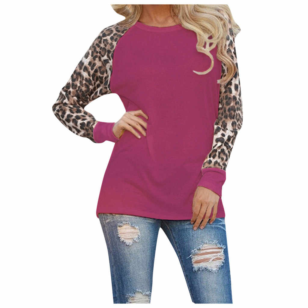 Lange Mouwen Chiffon Leopard Blouse Vrouwen Top Tees Fashion Casual Fall 2019 Blouse Femme Dames Shirt Kleding Plus Size S-5XL