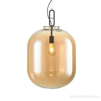 Modern Balloon Glass Chandelier MARSDEN Nordic for Living Room Bedroom Dining Hanging Light Fixture Retro Creative Home Decor