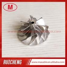 TD03 10T reverse 35.57/46.00mm 6+6 blades high performance turbo billet/milling/aluminum 2618 compressor wheel for 49131 07005