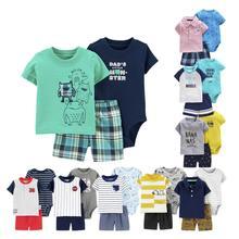 Orangemom 2020 new summer Baby Set 3 pcs Baby Boy Outfit pure cotton Baby Boy Clothes, 0-1-2 years old Infantil Roupa Menina стоимость