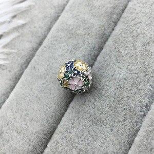 Image 3 - Pulseira 2019 prata sterling 100%, bracelete mágico borboleta robô coração em formato de flor