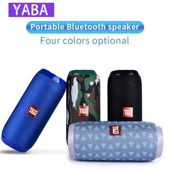 YABA Bluetooth Speaker Waterproof Portable Wireless Column Loudspeaker Box Support TF Card FM Radio Aux Input hyasia outdoor wireless speaker bluetooth single portable speakers bass colorful led loudspeaker support tf card usb fm radio