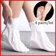 4 pairs Exfoliating Foot Mask Sock Pedicure Socks Exfoliation for Feet Mask Heels Foot Peeling Remove Dead Skin Mask for Legs