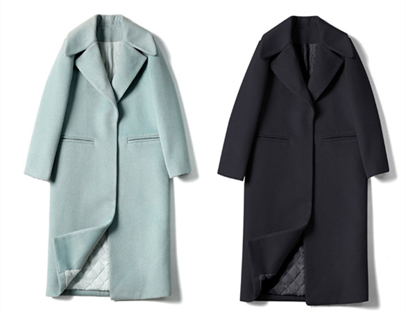 2019 New Ladies' jacket Fashion Single Breasted Slim Women Autumn Winter Wool Coat Long Wool Coat Spring Autumn Women Wool Coat 6