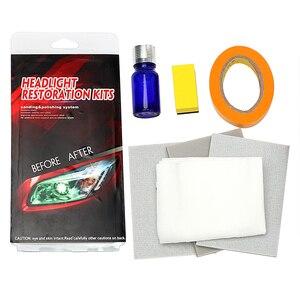 Image 5 - DIY zestaw do renowacji reflektorów reflektor rozjaśniacz polerowanie przywraca klarowność Anti scratch ochronna UV na reflektor samochodowy obiektyw