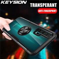 KEYSION Anello Trasparente di Caso Per Honor 20 Pro 10i 10 Lite 8X Nova 5T 4e Copertura Del Telefono Shockproof per huawei P40 Pro P30 Lite P20