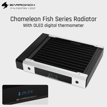 Barrowch FBCFRX-120 Chameleon Fish Modular 120mm Radiator With OLED Display Acrylic/POM Inlet Module Suitable For 120mm Fan