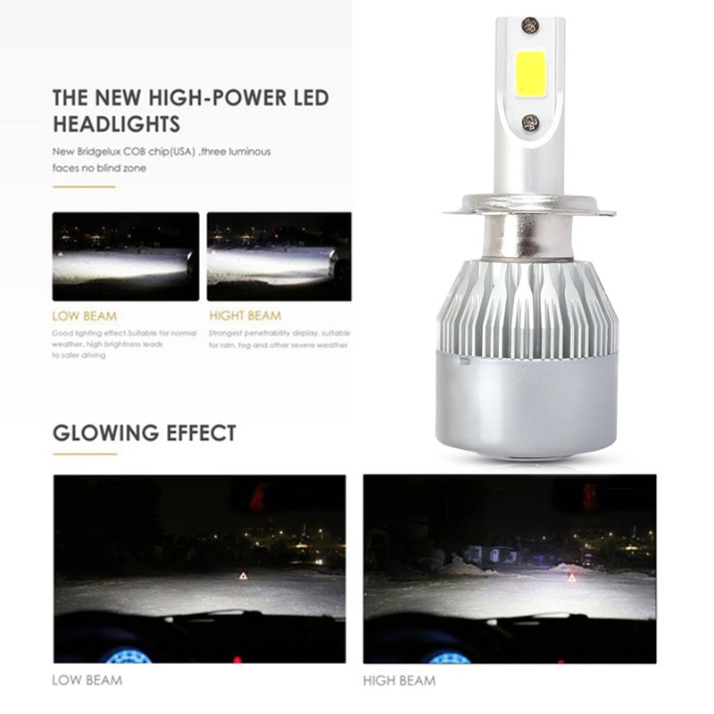 H7 H1 H11 H4 CAR Motorcycle Headlight Led Bulb 36W 4000LM Hi Lo 6000K White Driving Lights Motorbike Moto Bike Headlamp Lamp 12V in Car Headlight Bulbs LED from Automobiles Motorcycles