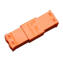Orange 2-Core Female+Male AC Wire terminal block fast connection connector for LED downlight 125V6A