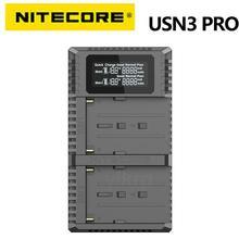 NITECORE USN3 Pro Dual USB QC ChargerสำหรับSony NP FM500H NP F550 NP F970 NP F770 NP F730 NP F750 F550 F970 แบตเตอรี่กล้อง