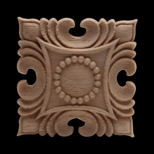 Furniture-Decoration-Accessories Decal Wood Carved-Walls Square Heart-Flower European